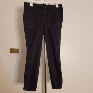 J. Crew Navy Blue Ankle Zipper Capri Pants 29P